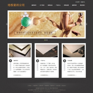 地板瓷砖公司网站案例【TYWl086】
