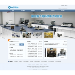 电子科技公司网站案例【TYWl091】