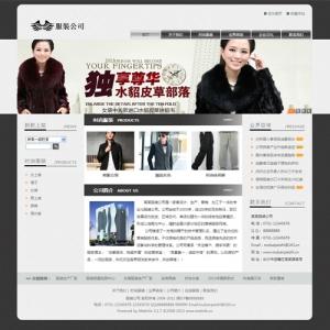 服装企业网站案例【TYWl083】