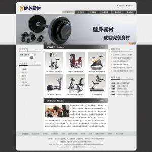 健身器材公司网站案例【TYWl083】