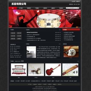 乐器公司网站案例【TYWl062】