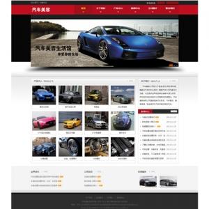 汽车美容网站案例【TYWl089】