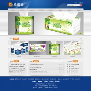 造纸公司网站案例【TYWl097】